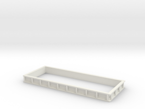 1/64 20 Foot Grain Bed Side Extension in White Natural Versatile Plastic