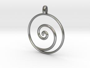 KORU Maori symbol Jewelry Pendant in Natural Silver