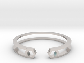 HH Bracelet Sharp, Medium Size, 65mm. Minimalistic in Platinum: Medium