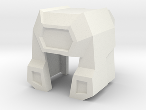 Mainframe Titan Helmet (Titans Return) in White Strong & Flexible