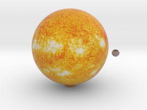 The Sun & Jupiter to scale in Full Color Sandstone