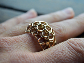 Voronoi Cell Ring II  in 14k Rose Gold Plated