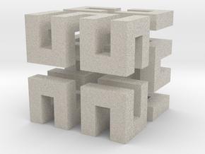 Hilbert cube ( pendant ) in Natural Sandstone
