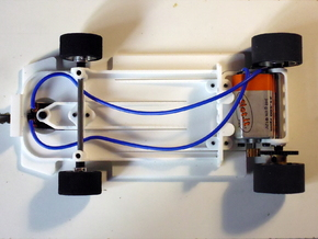 Slot car chassis for 458 GT2 in White Strong & Flexible