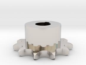 Pignone Per Catena Semplice ISO 04B-1 P6 Z11 in Rhodium Plated Brass