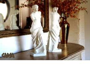 "Venus de Milo (24.25"" tall) in White Natural Versatile Plastic"