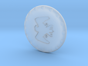 Golf Ball Marker House Arryn in Smooth Fine Detail Plastic