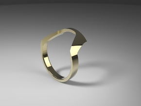 Static Ring - SIZE 8  in 14k Gold Plated Brass