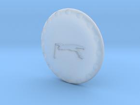 Golf Ball Marker PGA in Smooth Fine Detail Plastic