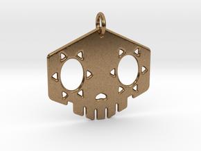 "2"" Sombra Skull Keychain in Natural Brass"