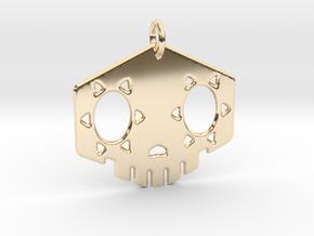 "2"" Sombra Skull Keychain in 14k Gold Plated Brass"