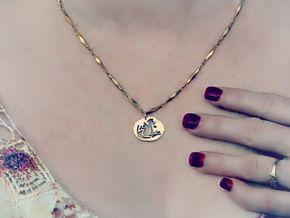 Uniquely Us Pendant--In:1.046 x / 0.987 y / 0.251  in 14k Rose Gold Plated Brass