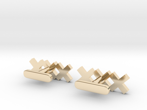 Basic Amsterdam Cufflink in 14k Gold Plated Brass