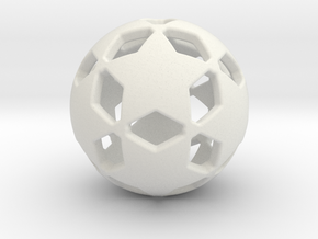 Soccer Ball 1610302106 in White Natural Versatile Plastic