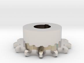Pignone Per Catena Semplice ISO 04B-1 P6 Z13 in Rhodium Plated Brass