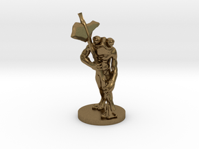 Frog Warrior for Dungeons and Dragons in Natural Bronze
