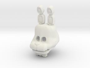 Custom Rabbit in White Natural Versatile Plastic