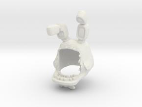 Custom Busted Rabbit in White Natural Versatile Plastic