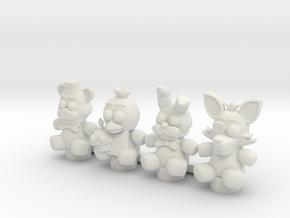 Custom Stuffed Animals in White Natural Versatile Plastic