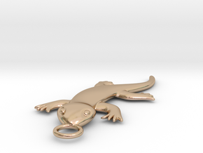 Lizard in 14k Rose Gold Plated Brass