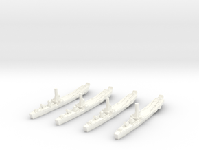 1/1250 IJN No.101 Landing Ship (X4) in White Processed Versatile Plastic