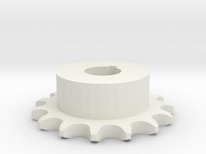Pignone Per Catena Semplice ISO 04B-1 P6 Z15 in White Natural Versatile Plastic