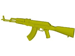 1/10 scale Avtomat Kalashnikova AK-47 rifle x 1 in Smooth Fine Detail Plastic