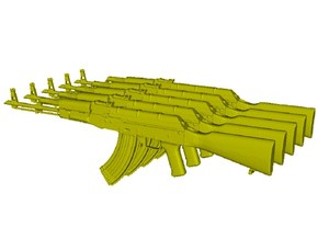 1/10 scale Avtomat Kalashnikova AK-47 rifles x 5 in Smooth Fine Detail Plastic
