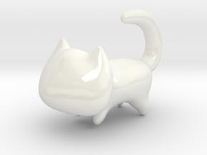 Yoshi's Cat in Gloss White Porcelain
