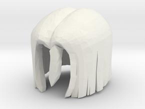 Custom Android 17 Inspired Hair for Lego  in White Natural Versatile Plastic