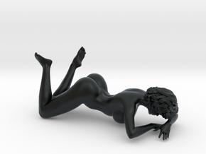Girl with sofa 009 1/18 in Black Hi-Def Acrylate: 1:18
