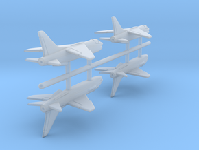 1/700 Vought F-8 Crusader (x4) in Smooth Fine Detail Plastic
