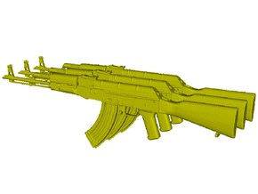 1/16 scale Avtomat Kalashnikova AK-47 rifles x 3 in Smooth Fine Detail Plastic