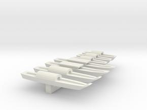 1/285 Scale Vietnam Sampans in White Natural Versatile Plastic