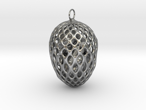 Little chicken in an egg in Natural Silver (Interlocking Parts)