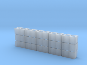1/43 Scale 8x8x16 Cinderblocks in Smooth Fine Detail Plastic