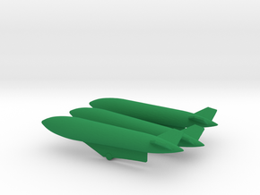 1/144 1200 L Drop Tank Set with pylons for Sepecat in Green Processed Versatile Plastic