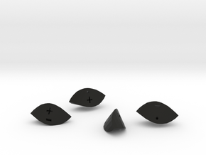 Fudge Twist in Black Natural Versatile Plastic: Polyhedral Set