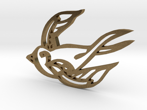 Swallow in Natural Bronze