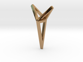 YOUNIVERSAL 3T Origami, Pendant. Sharp Chic in Polished Brass