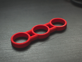 The Dars - Fidget Spinner - EDC in Red Strong & Flexible Polished