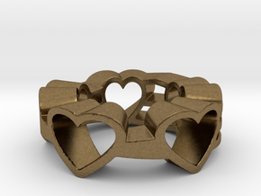Love Lines Ring Size 7.25 in Natural Bronze (Interlocking Parts)