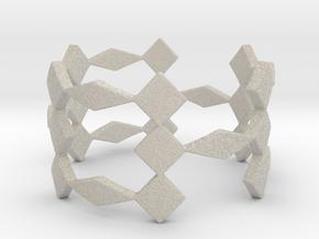 Triple H Ring Size 7.25 in Natural Sandstone