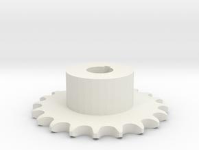 Pignone Per Catena Semplice ISO 04B-1 P6 Z20 in White Natural Versatile Plastic