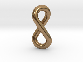 infinity pendant in Natural Brass