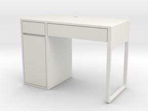 Miniature Micke Desk - IKEA in White Natural Versatile Plastic: 1:12