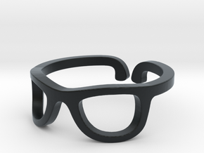 Glasses Ring Ring Size 7.25 in Black Hi-Def Acrylate