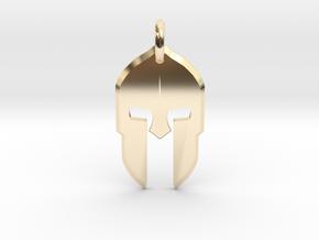 Spartan Helmet Pendant/Keychain in 14K Yellow Gold