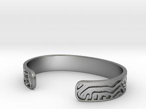 Diffusion Cuff in Natural Silver: Small