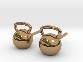 Kettlebelt Studs in Polished Brass